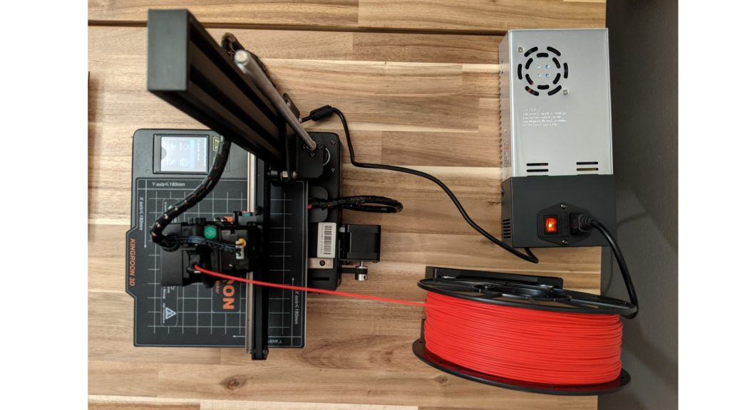 Overall size of the Kingroon KP3S 3D Printer